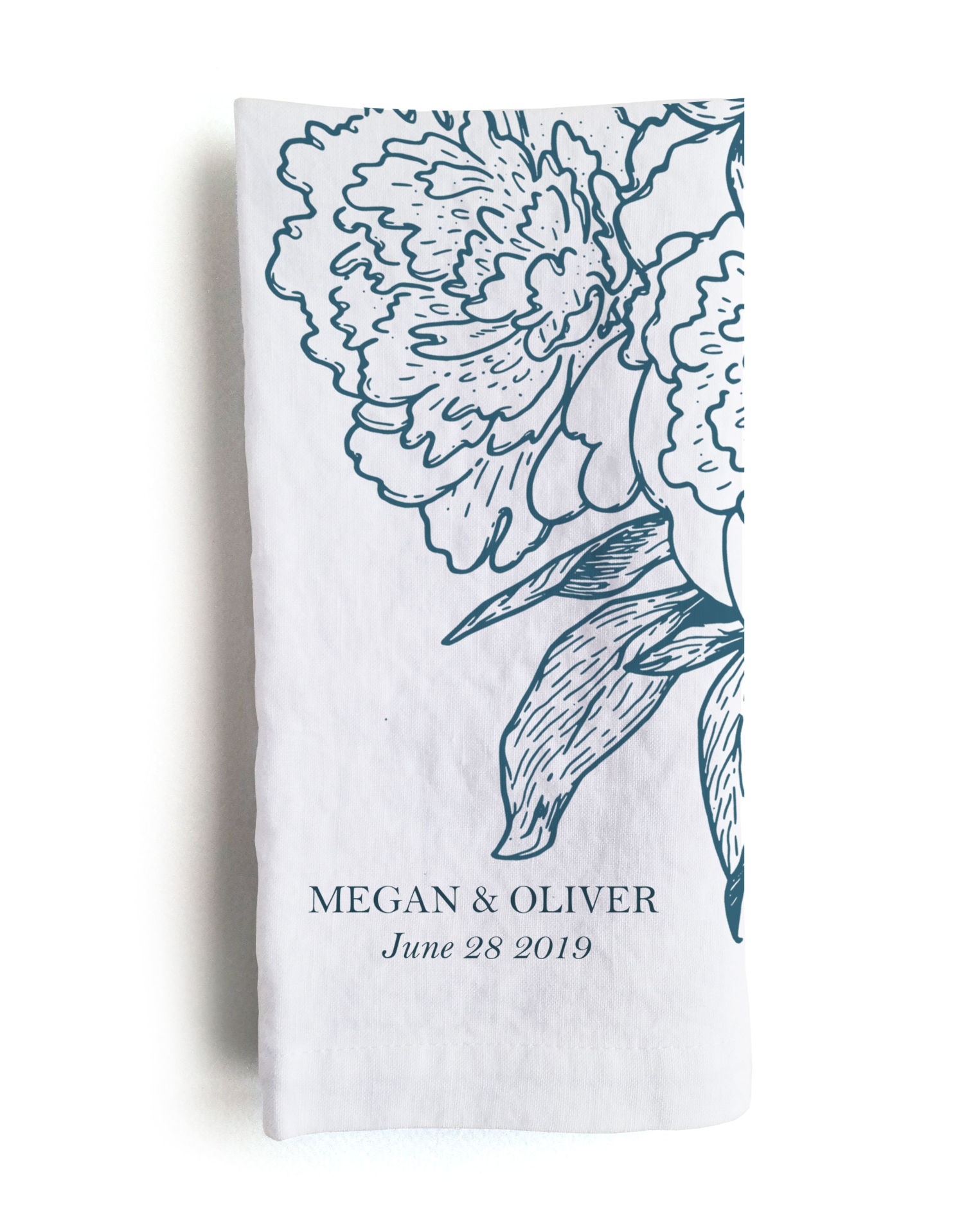 Custom Printed Linen Wedding Reception Napkins 100 Linen Linoroom