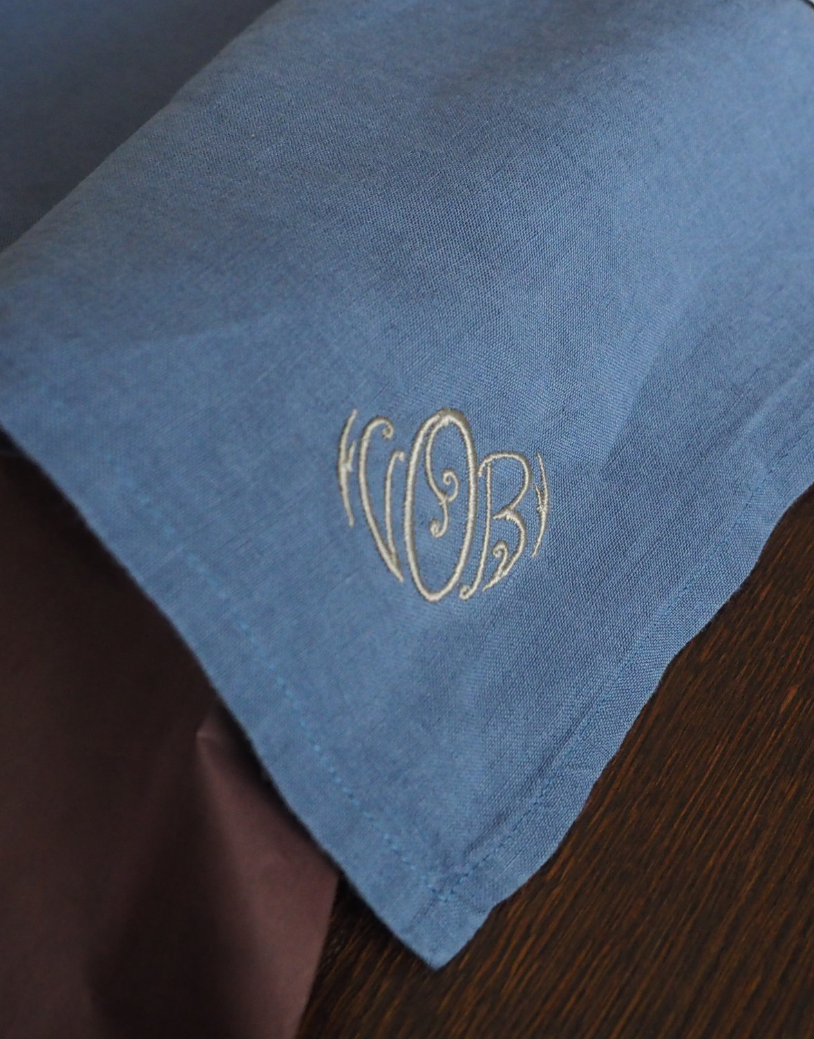 Personalised Embroidered Linen Wedding Party Napkins Linoroom