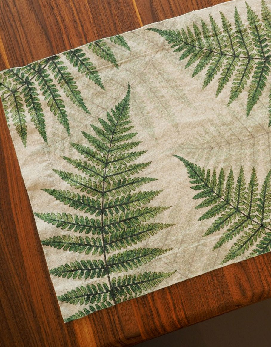 Line placemats Green Fern from Linoroom