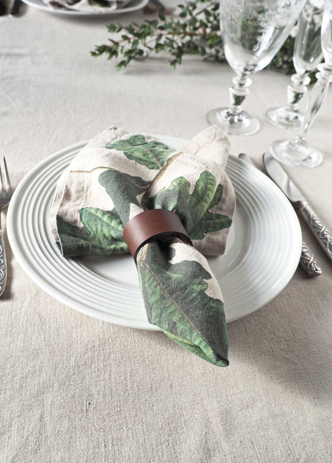 Linen Napkins Trees from Linoroom